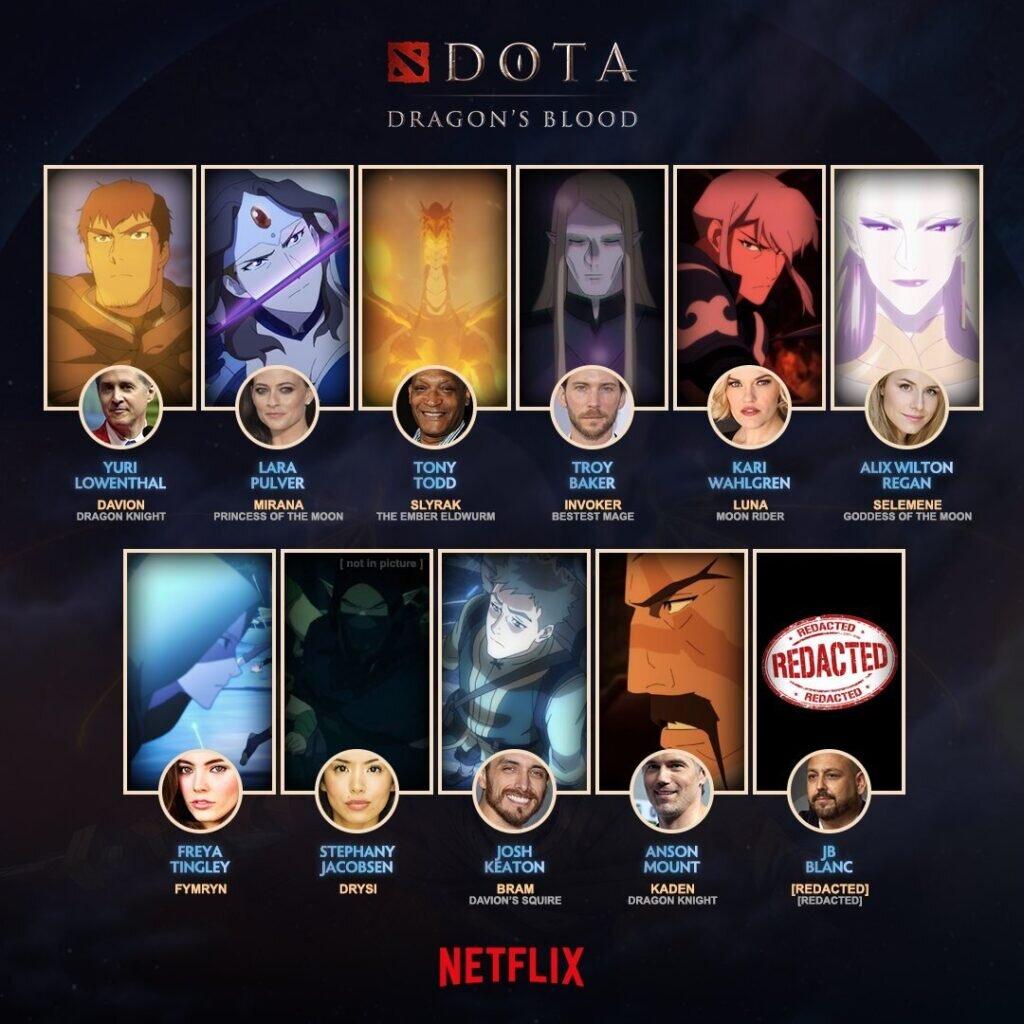 Dota: Dragon's Blood casting