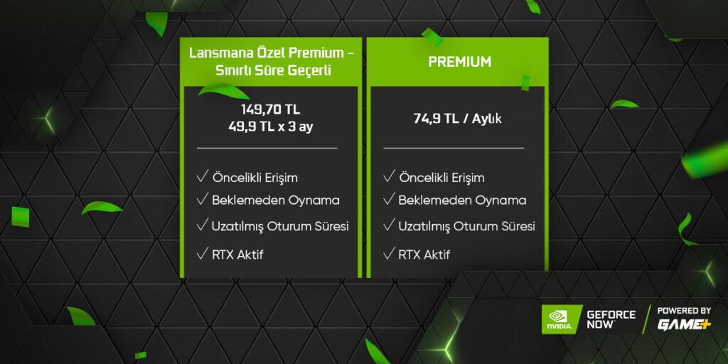 GeForce Now Türkiye Fiyatlandırması